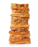 Stacked bread slices Royalty Free Stock Images