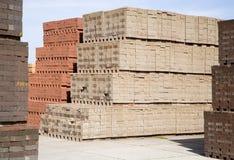 Stacked bricks Royalty Free Stock Photos