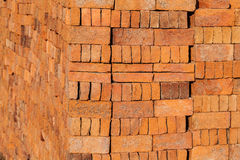 Stacked of bricks Stock Photos