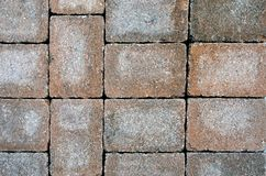 Stacked Bricks. Colored bricks stacked in irregular pattern Stock Image