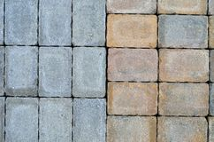 Stacked Bricks. Colored weathered bricks that may be suitable as texture or background Royalty Free Stock Images