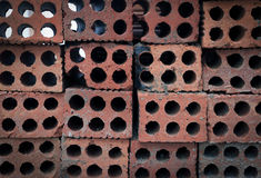 Stacked bricks at Contruction Royalty Free Stock Image