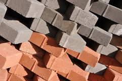 Stacked bricks Royalty Free Stock Photos