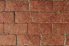 Stacked Bricks. Red bricks stacked tightly together Stock Image