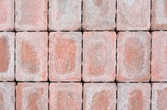 Stacked Bricks. Red weathered bricks that may be suitable as texture or background Royalty Free Stock Photos