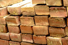 Stacked bricks. Stacked sidewalk bricks at an outdoor construction area Stock Photography