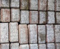 Bricks texture wallpaper Stock Images