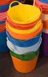 Stacked Buckets Stock Image