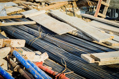 Stacked Building Materials On A Construction Area Stock Image
