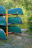 Stacked Canoes Royalty Free Stock Photo