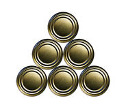 Stacked cans Royalty Free Stock Image
