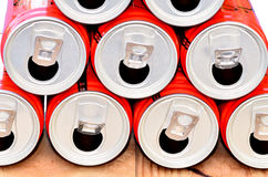 Stacked cans Stock Images