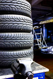 Stacked car tires Stock Images