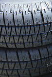 Stacked car tires Royalty Free Stock Photos