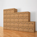 Stacked cardboard boxes Stock Photography