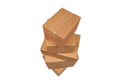 Stacked cardboard boxes Stock Image