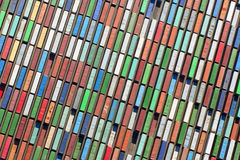 Stacked Cargo Containers Aerial View Royalty Free Stock Images