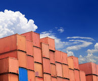 Stacked cargo containers Stock Photography