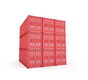 Stacked cargo containers Royalty Free Stock Images