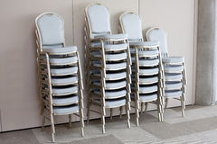Stacked chairs Stock Image
