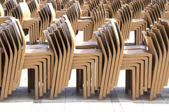 Stacked chairs Stock Photography