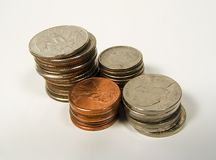 Stacked Change 2 royalty free stock photos