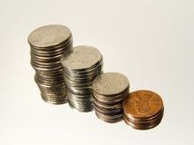 Stacked Change 3 royalty free stock images