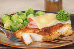 Stacked Chicken Cordon Bleu Stock Image