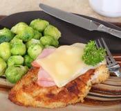 Stacked Chicken Cordon Bleu Dinner Stock Image