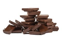 Stacked chocolate bars Stock Photo