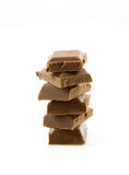 Stacked chocolate candy bar Stock Photos