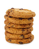 Stacked chocolate chip cookies Stock Photo
