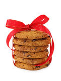 Stacked chocolate chip cookies Royalty Free Stock Photo