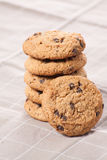 Stacked chocolate chip cookies Royalty Free Stock Photography