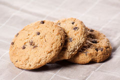 Stacked chocolate chip cookies Stock Image