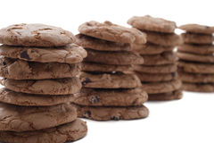 Stacked Chocolate Chip Cookies Stock Images