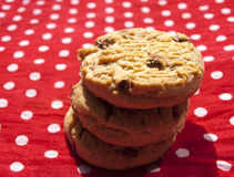 Stacked chocolate chip cookies Royalty Free Stock Photos