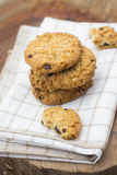 Stacked chocolate chip cookies Royalty Free Stock Image