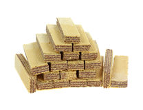 Stacked Chocolate Filled Wafers Stock Image