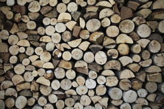 Stacked of chopped firewood Royalty Free Stock Photo