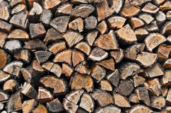 Stacked chopped wood Royalty Free Stock Photography