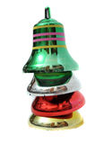 Stacked Christmas bells Royalty Free Stock Photos
