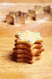 Stacked christmas cookies stock image