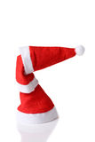 Stacked christmas hats stock images