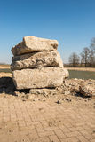 Large chunks concrete stacked Stock Photography