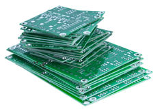 Stacked circuit boards Royalty Free Stock Photography