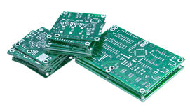 Stacked circuit boards Royalty Free Stock Image