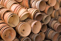 Stacked Clay Pots Royalty Free Stock Photo