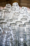 Stacked clean glasses Stock Image