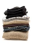 Stacked Clothes Royalty Free Stock Image